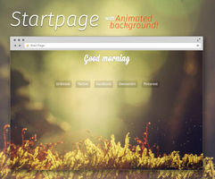 Spirit Startpage - animated background! by blooDesign