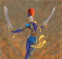 Harlequin attack 2 by YuliaPW
