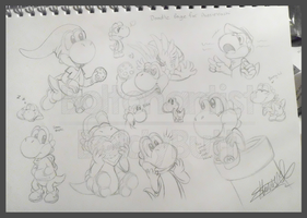 Comm: Yoshi Doodles 1 by Boltonartist