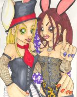 Madd Hatter n March Hare by jadedmoongirl