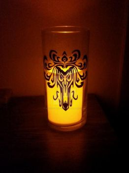 Haunted Mansion Candle Holder by SilhouettesbyMarie
