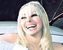 Blonde Bride Smile Wedding Day by cherrybomb-81