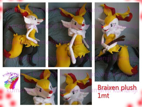 Braixen plush premium 1mt tall by chocoloverx3