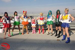 Sailor Moon group by Miwako-cosplay
