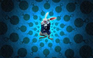 White Rabbit Wallpaper 2 by lasvacasvuelan