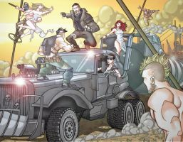 Mad Max: Fury Road in full-color by davidstonecipher