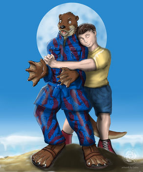 An otter is not a pet / commission for LongTom by Lutra75