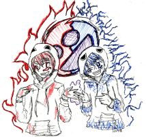 Flame and Frost Matryoshka by Ninja-Neko-Aru