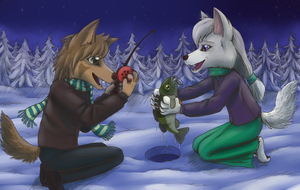 Ice Fishing with Clara by JeMiChi