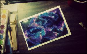 Water color - Galaxy by Ashesh1575