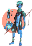 Seismitoad gijinka: Tobi of the Swamp by Madorin