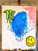 Elephant with Monster Logo and Smiley Face by MegaBunneh