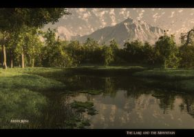 The Lake and the Mountain by ArthurBlue