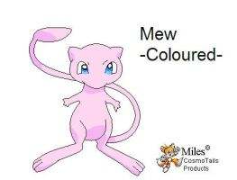 Mew -Coloured- by MileyMouse