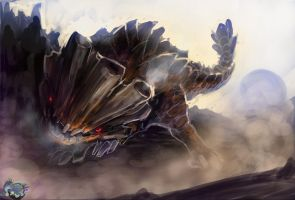 Speed Painting: Barroth by Black-Wing24