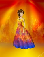 Girl On Fire by enteringmymind