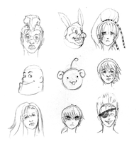 Reinvention: 9 More Heads by sketchandthecity