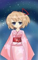 Blanc in her kimono by 123icoo