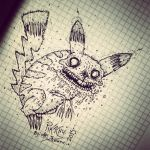 Pikachu (horror version) by: Ari Savonen. by NSFF