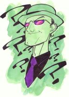Riddler Sketch by KidNotorious