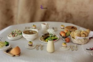 miniature holiday dinner by sssanshi