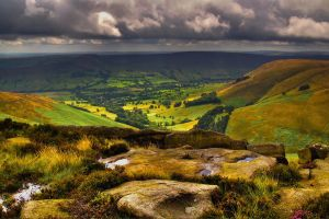 Storm Brewing Over Edale HDR by B-Jones