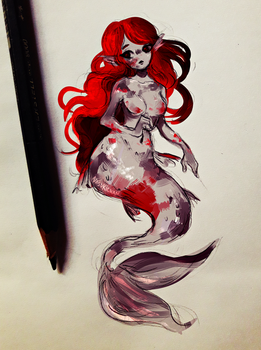 Koi Mermaid by Nasuki100