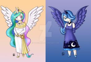 MLP FiM The Princesses by Yunsildin