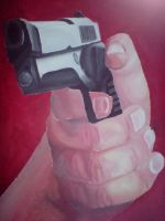 handgun PAINTED by Insane-Rob