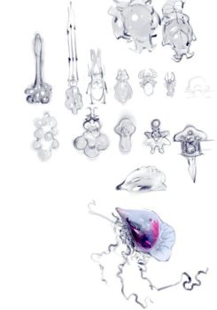 Alien Concept Sketches by mldoxy