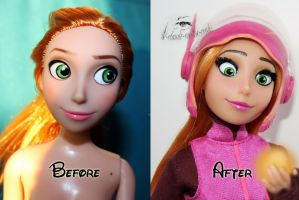 Disney Honey Lemon Doll Repaint|Before-After by claude-on-the-road