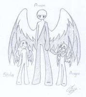Angel brothers (color) by Mary-Maru