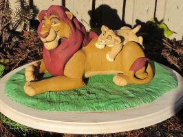 Mufasa and Simba by WickedSairah