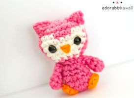 Pink Tiny Owl Plush 2 by adorablykawaii