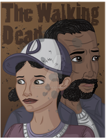 The Walking Dead- Clementine and Lee by InkRose98