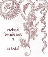 redLillith Mehndi set 4 by rL-Brushes