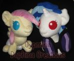 Baby Fluttershy and Vinyl Scratch by Gypmina