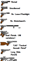 Variations for The Basic Pistol Sprite (Update) by TheOnePhun211
