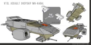 Vtol Dropship KABAL by sirjoepanzer