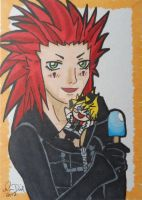 AkuRoku: Axel Hearts It by LadyNin-Chan