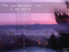 The sun doesn't rise... by coldenergie