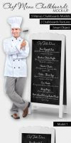Chef Menu Chalkboards Mock-Up by idesignstudio