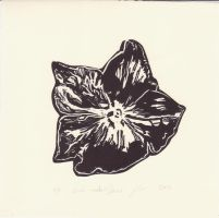 Black Wooden Flower by forget-the-sun