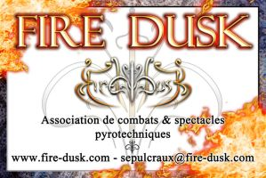 Fire Dusk business card by MD-Arts