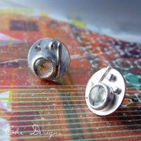 Fused Tourmalinated Earrings by che4u