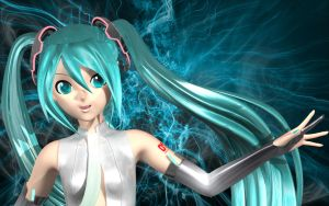 Miku Append Closeup by Primantis