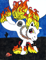 My Lil Ghost Rider Pony by treznorspants
