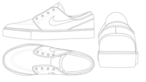 Blank Converse Shoe Template. Converse shoe template | Printables ...