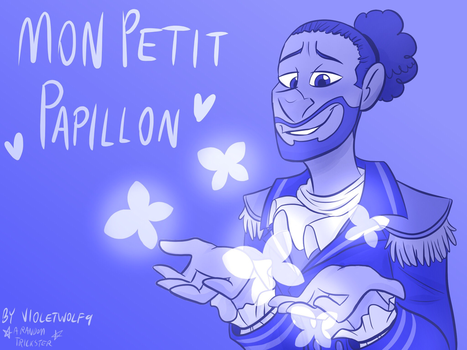 Mon Petit Papillon Updated Cover by violetwolf9