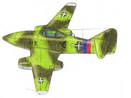 Messerschmitt Me 262A-2a by PatchKatz